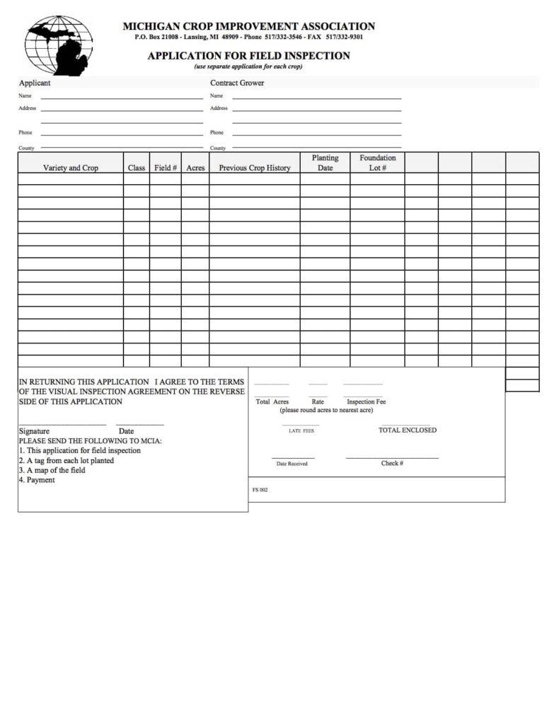 Field Inspection Application